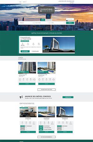 tela inicial de um site imobiliário